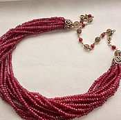 Украшения handmade. Livemaster - original item Necklace bracelet BURGUNDY. Handmade.