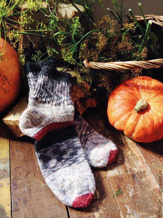 Носки, Чулки ручной работы. Ярмарка Мастеров - ручная работа. Купить носки. Handmade. Комбинированный, Носки шерстяные, полушерсть