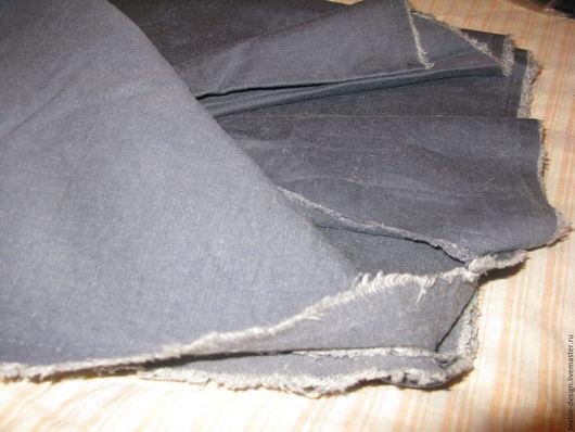Шитье ручной работы. Ярмарка Мастеров - ручная работа. Купить Ткань джинсовая. Handmade. Синий, хлопок для игрушек, ткань для шитья