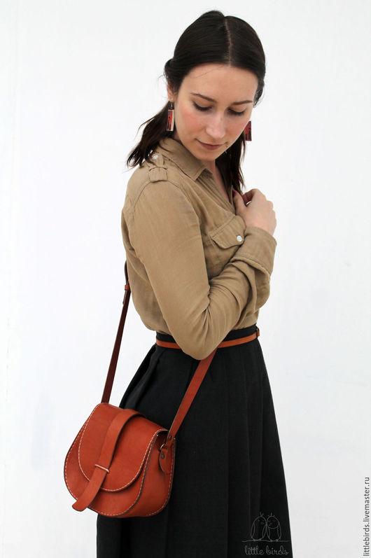 Женские сумки ручной работы. Ярмарка Мастеров - ручная работа. Купить Сумочка из натуральной кожи. Handmade. Рыжий, сумочка