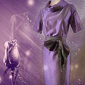 """Одежда ручной работы. Ярмарка Мастеров - ручная работа Платье """"Фиолетовая роза"""" из натурального шелка тафты. Handmade."""