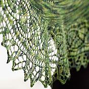 Аксессуары ручной работы. Ярмарка Мастеров - ручная работа Зеленый ажурный шарф. Handmade.