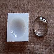 Материалы для творчества ручной работы. Ярмарка Мастеров - ручная работа Силиконовая форма Кабошона Овал 40х30х8мм. Handmade.