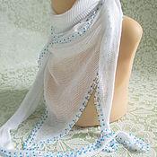 Аксессуары handmade. Livemaster - original item White neck scarf with beads.. Handmade.