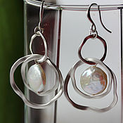 Украшения handmade. Livemaster - original item Earrings Rustle. Handmade.