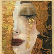 Ткани ручной работы. Ярмарка Мастеров - ручная работа Золотые слезы лоскут ткани. Handmade.