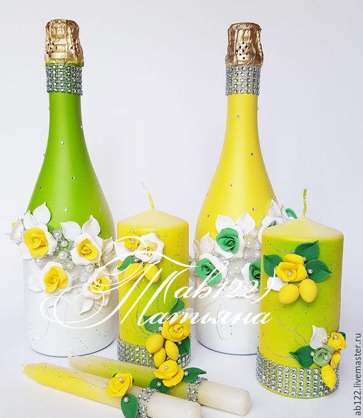 Свадебные аксессуары ручной работы. Ярмарка Мастеров - ручная работа. Купить Летняя лимонная свадьба. Handmade. Желтый, свадебные аксессуары