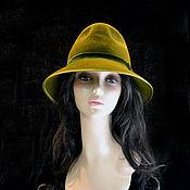 """Аксессуары ручной работы. Ярмарка Мастеров - ручная работа """"Оливка"""" шляпа классическая. Handmade."""