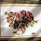 Картины цветов ручной работы. Розы для любимой. Hobby-grad   Вышивка лентами. Ярмарка Мастеров. Розы, несерчай