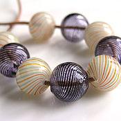 Материалы для творчества handmade. Livemaster - original item Lampwork beads, hollow. Handmade.