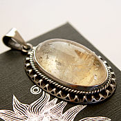 Украшения handmade. Livemaster - original item Cecilia pendant with citrine set in 925 sterling silver. Handmade.