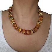 Украшения handmade. Livemaster - original item Amber beads raw amber healing Gift to mother wife of 45 cm. Handmade.