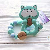 "Куклы и игрушки handmade. Livemaster - original item Грызунок ""Мятно-голубой этюд"" силиконовый. Handmade."