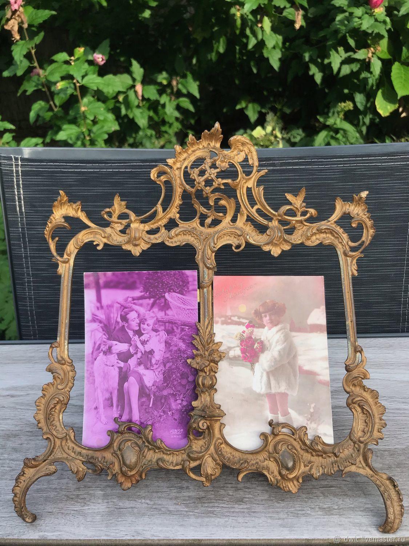 Photo frame, brass, 19th century, antique, France, Vintage interior, Arnhem,  Фото №1