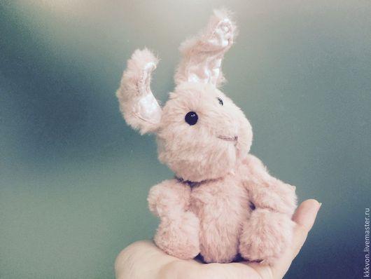 Мишки Тедди ручной работы. Ярмарка Мастеров - ручная работа. Купить Заяц-побегаец розовый. Handmade. Розовый, заяц, шплинты