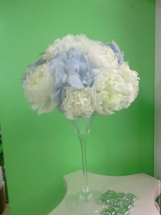 Интерьерные композиции ручной работы. Ярмарка Мастеров - ручная работа. Купить Синяя свадьба, оформление.. Handmade. Голубой, цветы в стекле