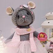 Мягкие игрушки ручной работы. Ярмарка Мастеров - ручная работа Серая мышка. Символ года.. Handmade.