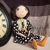 """Куклы и игрушки ручной работы. Ярмарка Мастеров - ручная работа Кукла тыквоголовка """"Платье в горошек"""". Handmade."""