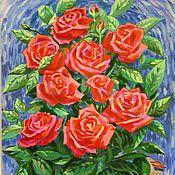 Картины ручной работы. Ярмарка Мастеров - ручная работа Картины: Время и розы. Handmade.