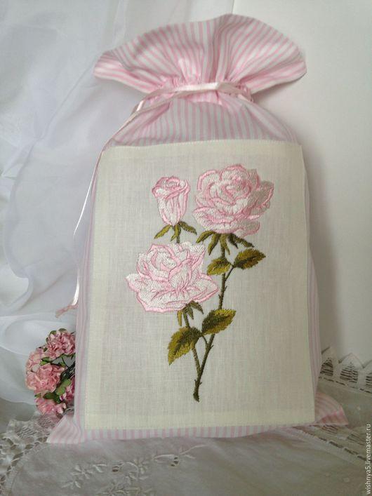 """Белье ручной работы. Ярмарка Мастеров - ручная работа. Купить Мешочек """"Нежность """". Handmade. Розовый, мешочек для трав"""