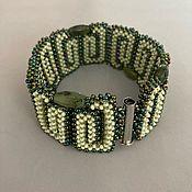 Украшения handmade. Livemaster - original item Bracelet braided: Taiga bead decoration. Handmade.