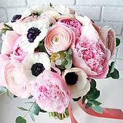 Свадебный салон ручной работы. Ярмарка Мастеров - ручная работа Свадебный букет невесты из живых цветов Шикарный. Handmade.