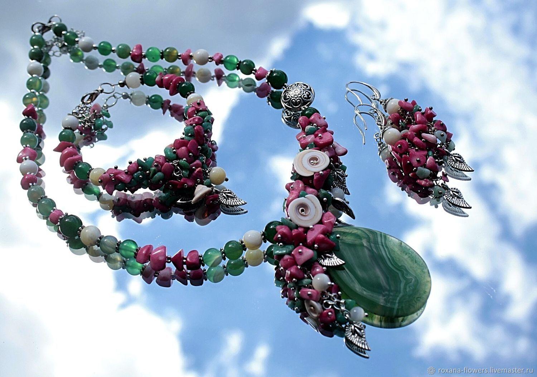 Carolina - necklace set with pendant bracelet and earrings, Jewelry Sets, Khimki,  Фото №1