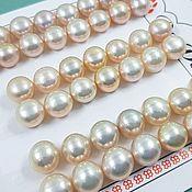 Материалы для творчества handmade. Livemaster - original item Pair of natural semi-drilled 8mm AA pearls (2903-C). Handmade.