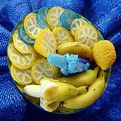 """Украшения ручной работы. Ярмарка Мастеров - ручная работа Брошь """"ГМО не дремлет"""" - синий банан. Handmade."""