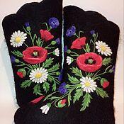 """Обувь ручной работы. Ярмарка Мастеров - ручная работа Валенки женские """"Маки"""". Handmade."""