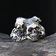 """Кольца ручной работы. Ярмарка Мастеров - ручная работа. Купить """"Sansara"""" серебряное кольцо с рубином, кольцо с черепом, брутальное. Handmade."""