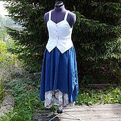 Одежда ручной работы. Ярмарка Мастеров - ручная работа № 168.2 Льняная бохо юбка. Handmade.