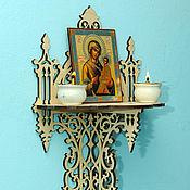 Для дома и интерьера handmade. Livemaster - original item Shelf for icons. Handmade.