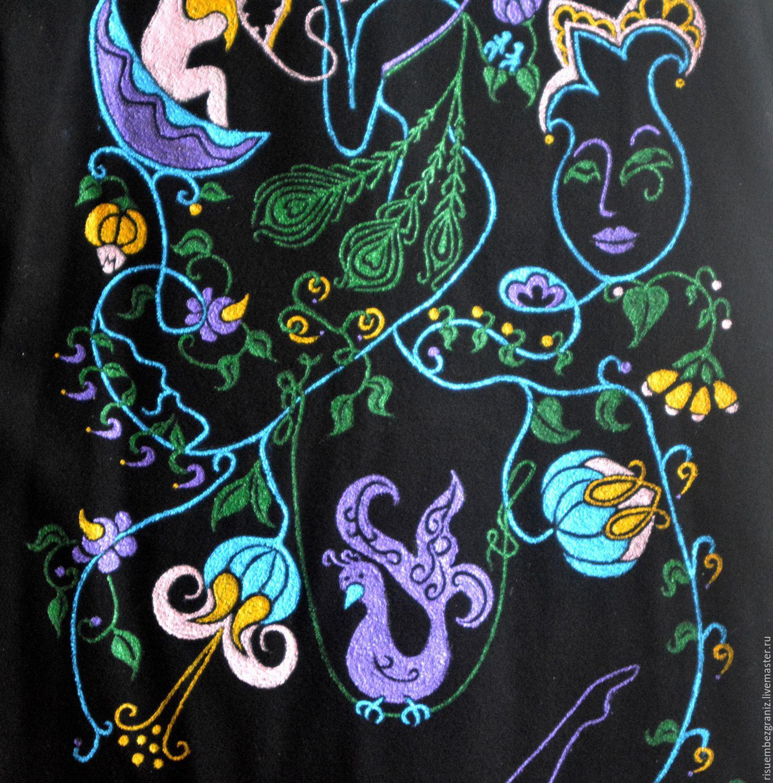 Painting coat to order. Artist Waist Murshudova