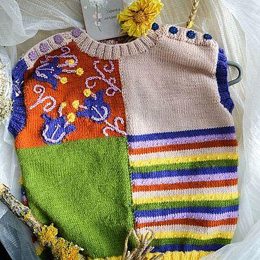 Одежда ручной работы. Ярмарка Мастеров - ручная работа ЖИЛЕТКА на девочку. Handmade.
