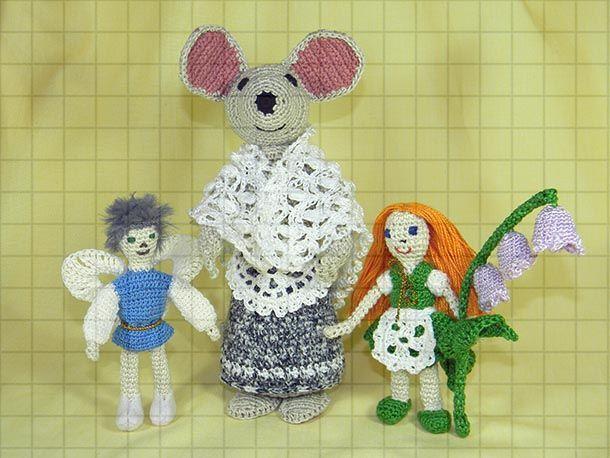 Набор вязаных мягких игрушек «Дюймовочка, король эльфов и полевая мышь, Мягкие игрушки, Краснодар,  Фото №1