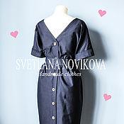 Одежда ручной работы. Ярмарка Мастеров - ручная работа Платье с акцентом по спинке. Handmade.