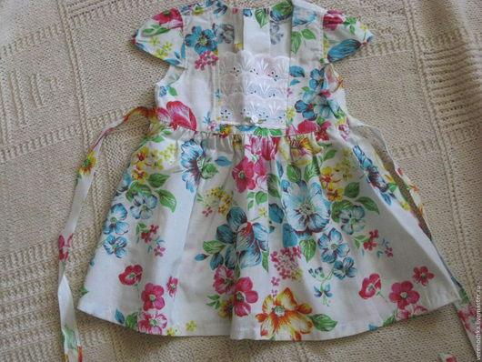 Платья ручной работы. Ярмарка Мастеров - ручная работа. Купить Платье для девочки. Handmade. Комбинированный, застежка, кружево хлопок, кружева