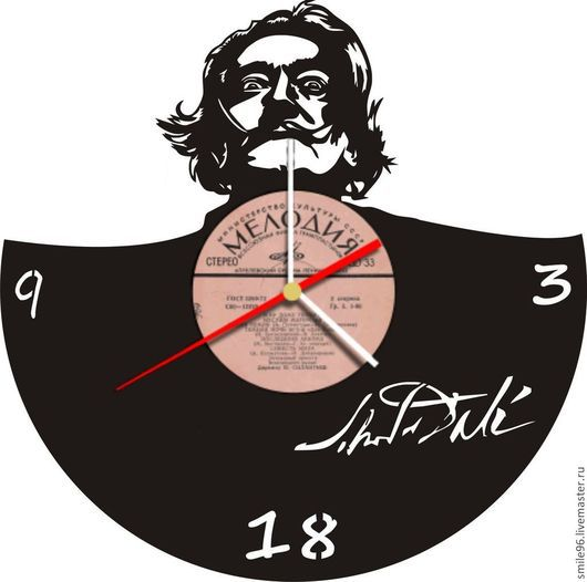 """Часы для дома ручной работы. Ярмарка Мастеров - ручная работа. Купить Часы """"Сальвадор Дали"""". Handmade. Черный, Сальвадор Дали"""
