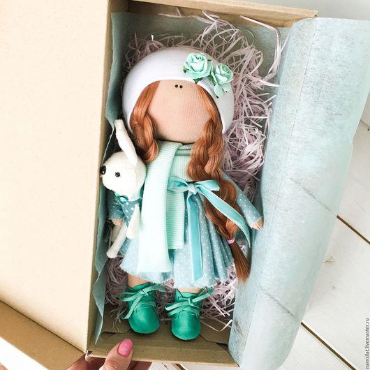 Человечки ручной работы. Ярмарка Мастеров - ручная работа. Купить Текстильная кукла. Handmade. Бирюзовый, кукла, текстильная кукла, пупс