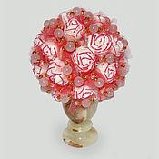 """Цветы и флористика ручной работы. Ярмарка Мастеров - ручная работа Цветы из розового кварца """"Весна любви"""". Handmade."""