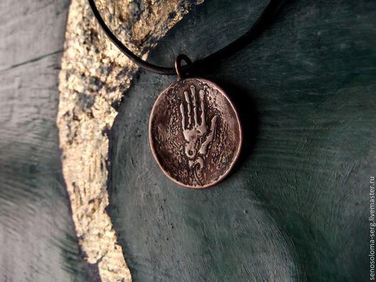 """Кулоны, подвески ручной работы. Ярмарка Мастеров - ручная работа. Купить Медальон """"Рука"""". Handmade. Рука, подвеска рука, ладонь"""