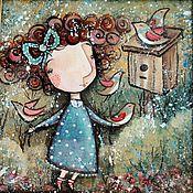 Картины и панно ручной работы. Ярмарка Мастеров - ручная работа Весна 2 ( репродукция). Handmade.