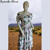 Одежда handmade. Livemaster - original item dress with roses. Handmade.