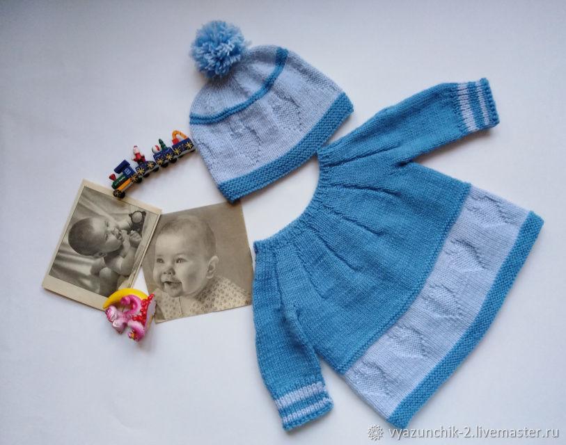 Кофточка и шапочка для малыша, Комплекты одежды, Красноярск, Фото №1