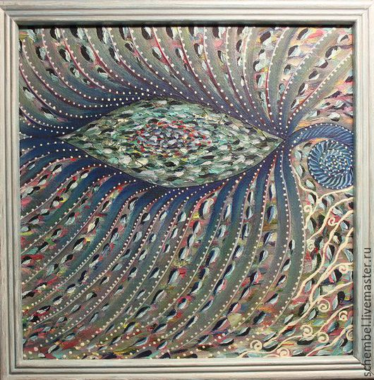 Абстракция ручной работы. Ярмарка Мастеров - ручная работа. Купить Вдохновение. Handmade. Морская волна, абстрактная картина, живопись маслом
