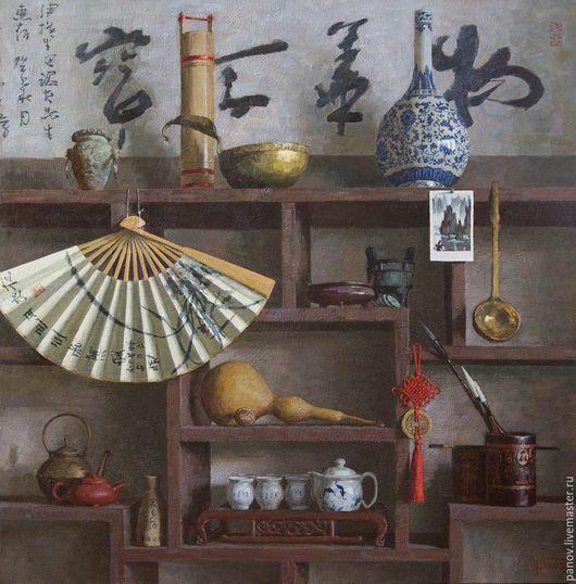 Натюрморт ручной работы. Ярмарка Мастеров - ручная работа. Купить Вспоминая Китай. Handmade. Коричневый, китайский, мечты, ваза, чайник