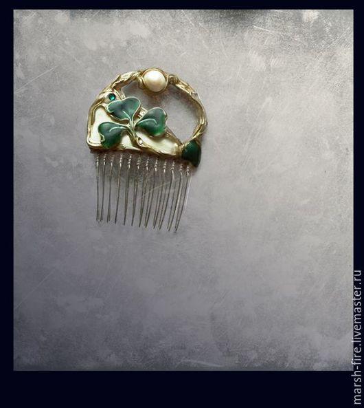 Заколки ручной работы. Ярмарка Мастеров - ручная работа. Купить Ireland. Handmade. Зеленый, жемчуг, ирландия, день Святого Патрика