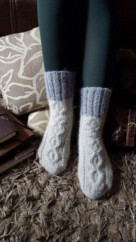 """Носки, Чулки ручной работы. Ярмарка Мастеров - ручная работа. Купить Вязаные носочки,,Винтаж"""". Handmade. Серый, носки вязаные"""