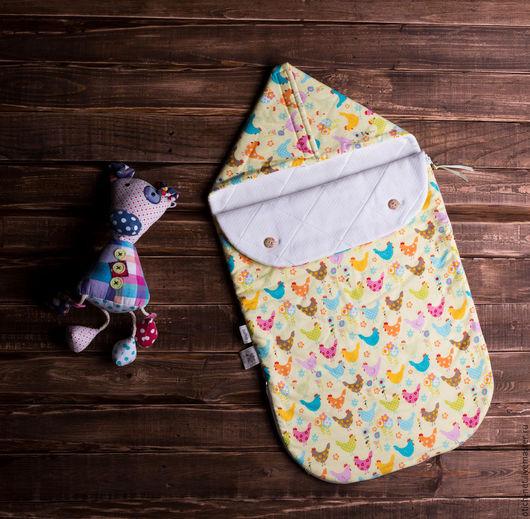 """Для новорожденных, ручной работы. Ярмарка Мастеров - ручная работа. Купить Конверт детский на выписку """"Сhickens"""". Handmade. Конверт на выписку"""